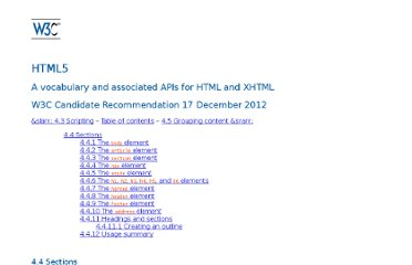 http://www.w3.org/TR/html5/headings-and-sections.html#outlines