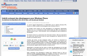http://www.developpez.com/actu/38960/Interet-croissant-des-developpeurs-pour-Windows-Phone-au-detriment-de-BlackBerry-OS-iOS-en-tete-suivi-de-pres-par-Android/