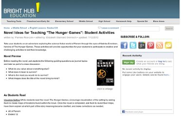 http://www.brighthubeducation.com/middle-school-english-lessons/111784-the-hunger-games-student-activities-and-games/