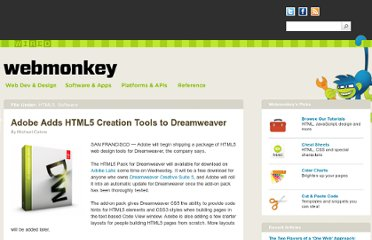 http://www.webmonkey.com/2010/05/adobe-adds-html5-creation-tools-to-dreamweaver/