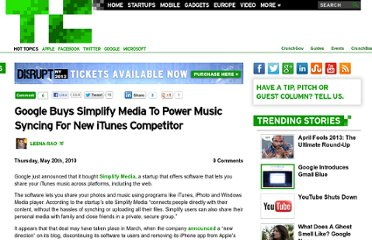 http://techcrunch.com/2010/05/20/google-buys-simplify-media-to-power-music-syncing-for-new-itunes-competitor/