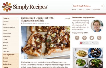 http://www.simplyrecipes.com/recipes/caramelized_onion_tart_with_gorgonzola_and_brie/