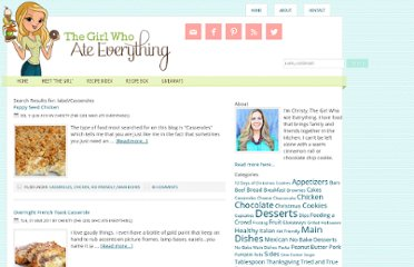 http://www.the-girl-who-ate-everything.com/search/label/Casseroles