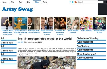 http://artsyswag.com/10-most-polluted-cities-in-the-world/