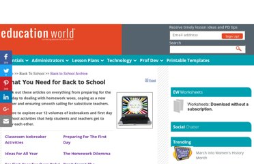 http://www.educationworld.com/back_to_school/index.shtml#icebreaker