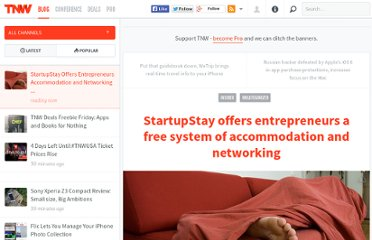 http://thenextweb.com/insider/2012/07/23/startupstay-offers-entrepreneurs-a-free-network-of-accommodation-and-networking/
