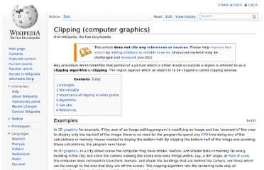 http://en.wikipedia.org/wiki/Clipping_(computer_graphics)