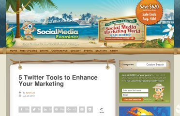 http://www.socialmediaexaminer.com/twitter-tools-to-enhance-your-marketing/
