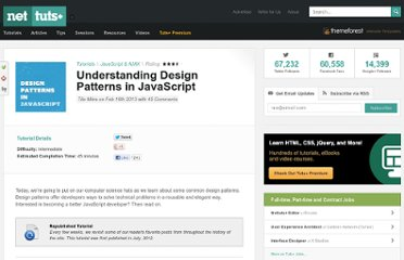 http://net.tutsplus.com/tutorials/javascript-ajax/digging-into-design-patterns-in-javascript/
