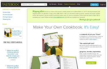 http://www.tastebook.com/cookbook_studio