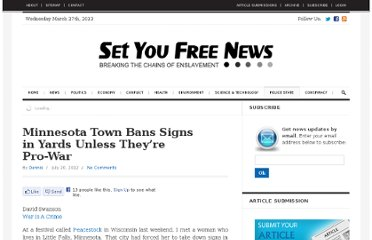 http://www.setyoufreenews.com/2012/07/20/minnesota-town-bans-signs-in-yards-unless-theyre-pro-war/