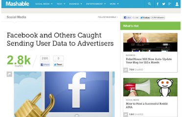 http://mashable.com/2010/05/20/facebook-caught-sending-user-data-to-advertisers/