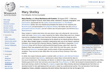 http://en.wikipedia.org/wiki/Mary_Shelley
