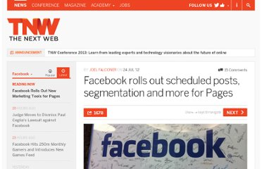 http://thenextweb.com/facebook/2012/07/24/facebook-rolls-out-scheduled-posts-segmentation-and-more-for-pages/