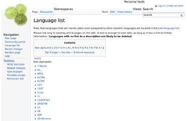 http://esolangs.org/wiki/language_list