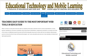http://www.educatorstechnology.com/2012/07/teachers-easy-guide-to-most-important.html