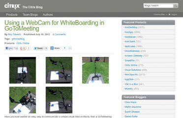 http://blogs.citrix.com/2012/07/18/using-a-webcam-for-whiteboarding-in-gotomeeting/