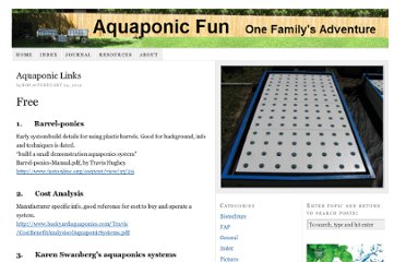 http://aquaponicfun.com/index/aquaponic-links/