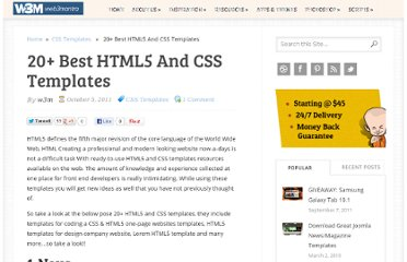 http://www.web3mantra.com/2011/10/05/20-best-html5-and-css-templates/