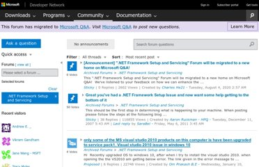 http://social.msdn.microsoft.com/Forums/en-US/netfxsetup/threads