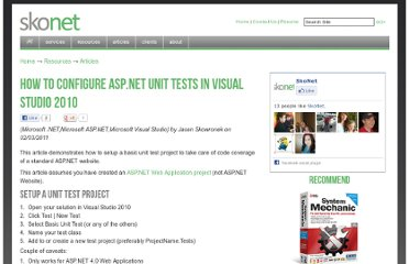 http://www.skonet.com/Articles_Archive/How_To_Configure_ASP_NET_Unit_Tests_in_Visual_Studio_2010.aspx
