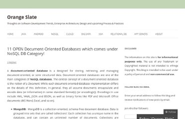 http://orangeslate.com/2011/12/06/11-open-document-oriented-databases-which-comes-under-nosql-db-category/
