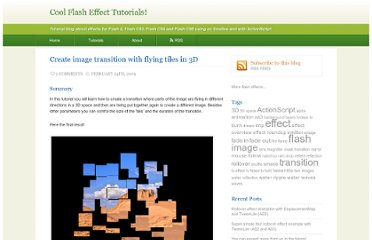 http://flash-effects.com/tutorial-image-transition-flying-tile-3d/