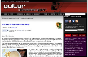 http://www.guitarmessenger.com/lessons/auditioning-for-lady-gaga/