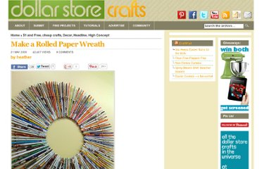 http://dollarstorecrafts.com/2009/05/rolled-wreath/