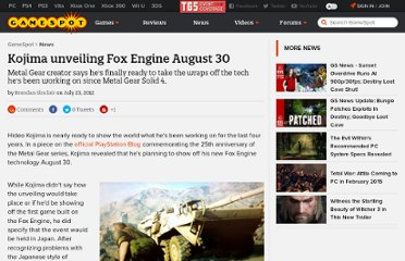 http://www.gamespot.com/news/kojima-unveiling-fox-engine-august-30-6388306
