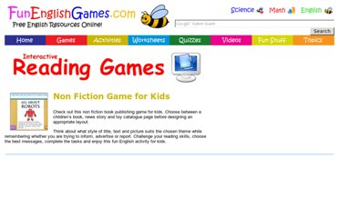 http://www.funenglishgames.com/readinggames/nonfiction.html