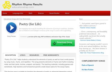http://www.educationalrap.com/song/poetry-for-life/