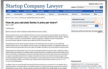 http://www.startupcompanylawyer.com/2007/05/21/how-do-you-calculate-series-a-price-per-share/