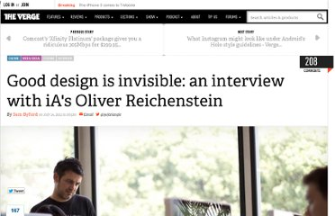 http://www.theverge.com/2012/7/24/3177332/ia-oliver-reichenstein-writer-interview-good-design-is-invisible