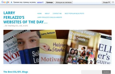 http://larryferlazzo.edublogs.org/2009/06/12/the-best-eslefl-blogs/