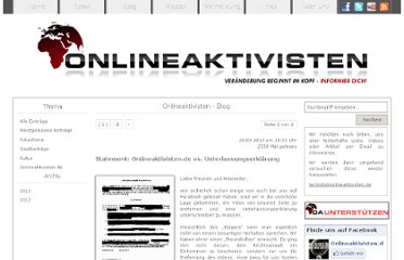 http://www.onlineaktivisten.de/index.php?action=blog