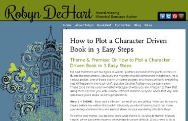http://www.robyndehart.com/for-writers/how-to-plot-a-character-driven-book-in-3-easy-steps/