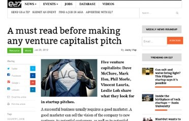 http://e27.sg/2012/07/25/a-must-read-before-making-an-venture-capitalist-pitch/