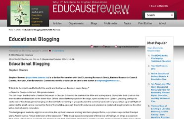 http://www.educause.edu/ero/article/educational-blogging