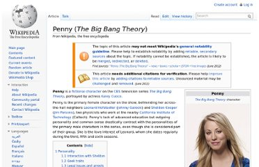 http://en.wikipedia.org/wiki/Penny_(The_Big_Bang_Theory)