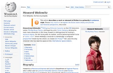 http://en.wikipedia.org/wiki/Howard_Wolowitz
