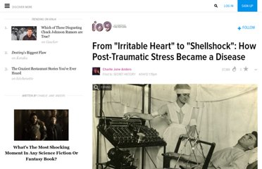 http://io9.com/5898560/from-irritable-heart-to-shellshock-how-post+traumatic-stress-became-a-disease