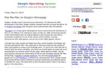 http://googlesystem.blogspot.com/2010/05/play-pac-man-on-googles-homepage.html