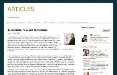 http://articlescoertvisser.blogspot.com/2011/07/21-solution-focused-techniques.html