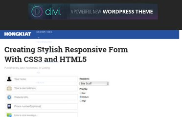 http://www.hongkiat.com/blog/creating-responsive-form-with-css3-html5/