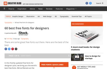 http://www.creativebloq.com/graphic-design-tips/best-free-fonts-for-designers-1233380