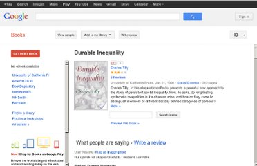 http://books.google.co.uk/books/about/Durable_Inequality.html?id=3vAe_Ke-8uIC