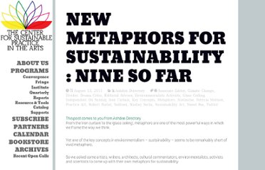 http://www.sustainablepractice.org/2011/08/new-metaphors-for-sustainability-nine-so-far/