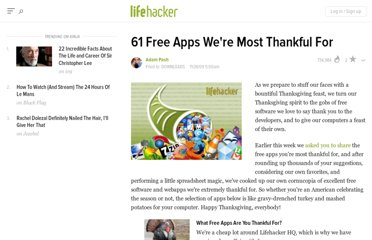 http://lifehacker.com/5412886/61-free-apps-were-most-thankful-for
