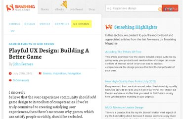 http://uxdesign.smashingmagazine.com/2012/07/25/playful-ux-design-building-better-game/